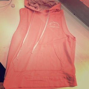 Rue21 Tops - Rue21 Coral hooded cutoff tee, Size small